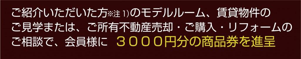 3000円の商品券